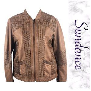 Leather laser cut jacket